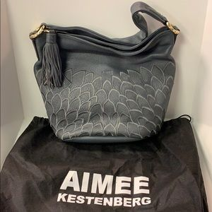 Aimee Kestenberg Gray Shoulder Bag